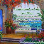 Comenzando el  día con Dios.