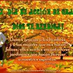 Feliz día de Acción de Gracias,Dios te bendiga!