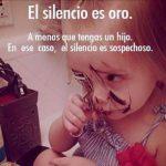 silencio y los niños