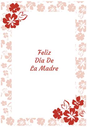 Feliz Día de la Madre.  Sin ti nada hubiera sido posible.