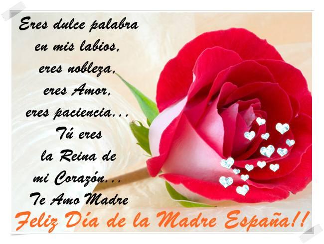 Tú eres La Reina de mi Corazón... Te amo Madre.  Felicidades