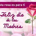 Esta rosa es para ti. Feliz Día de las Madres.