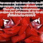Dos rosas rojas te envío en tu día. Dos rosas rojas para ti ......