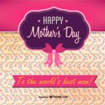 Happy Mother´Day. To the world`s best Mom!