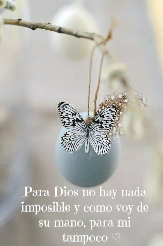 Para dios no hay nada imposible y como voy de su mano, para mi tampoco