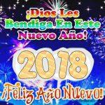 Dios les bendiga en este Nuevo Año 2018
