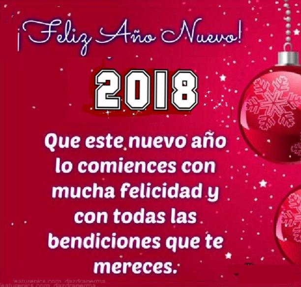 Que en este nuevo año tengas cien razones para reír, un sueño por el que vivir, mil alegrías para disfrutar y ningún motivo para sufrir. ¡Muchas Felicidades!