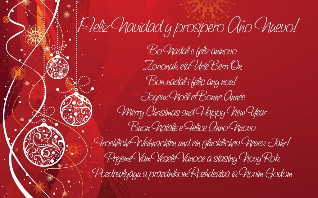 Que la celebración de estas fiestas sean el comienzo de una vida mejor. Feliz Navidad y Próspero Año Nuevo