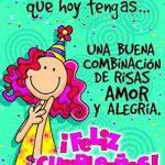 Deseo de corazón que hoy tengas ... Una buena combinación de risas, amor y alegría. ¡Feliz Cumpleaños!