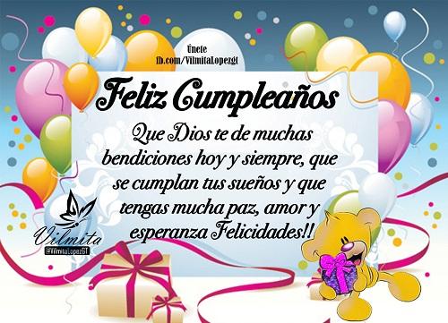 Feliz Cumpleaños. Que Dios te dé muchas bendiciones hoy y siempre, que se cumplan tus sueños y que tengas mucha paz, amor y esperanza. Felicidades!!!!