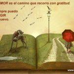El Amor es el camino que recorro con gratitud. UCDM