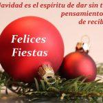 La Navidad es el espíritu de dar
