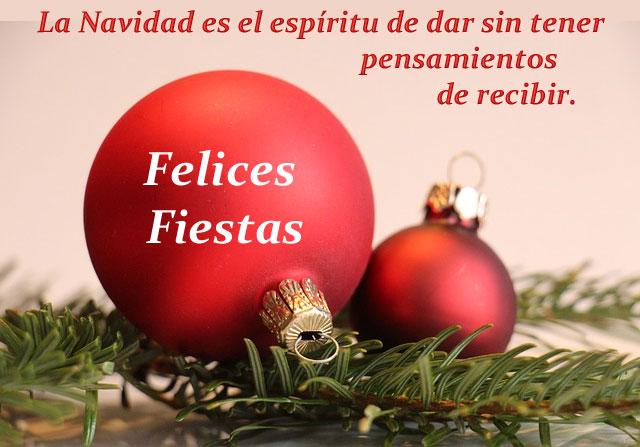 La Navidad es el espíritu de dar sin tener pensamientos de recibir