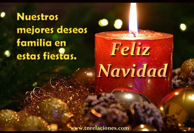 Nuestros mejores deseos familia estas fiestas. Feliz Navidad