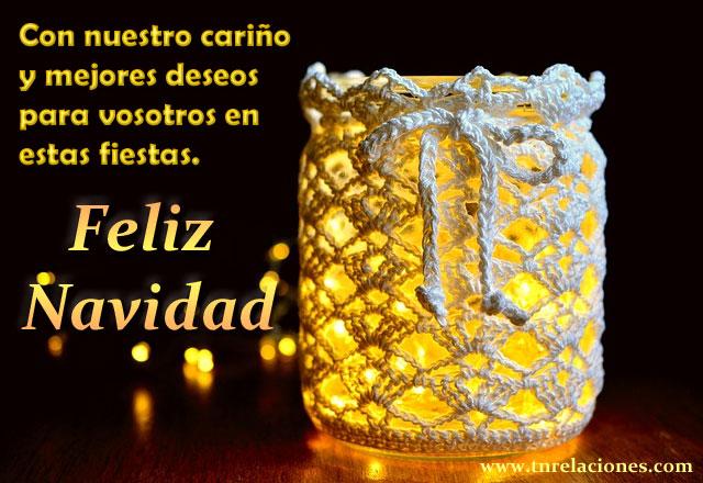 Con nuestro cariño y mejores deseos para vosotros en estas fiestas. Feliz Navidad