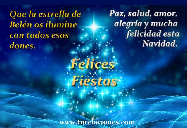 Paz, salud, amor, alegría y mucha felicidad esta Navidad