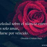 Gotas de soledad sobre el silencio estremecido...