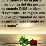 Buenos Días. En el amanecer Dios te dice: