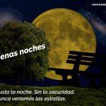 Me gusta la noche, sin la oscuridad nunca veríamos las estrellas