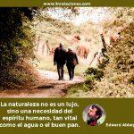 La naturaleza no es un lujo