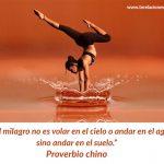El milagro no es volar en el cielo o andar en el agua