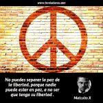 No puedes separar la paz de la libertad