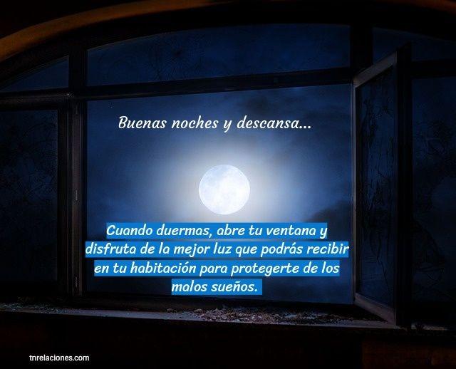 Buenas noches y descansa...