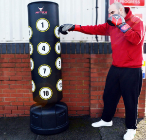 The Mytra Fusion Pedestal punching bag is a punching bag