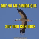 Que no me olvide que soy uno con Dios.